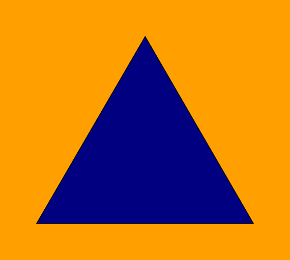 Civil defense international flag